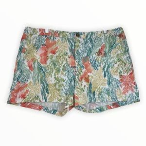 Old Navy NEW Chino Shorts Tropical Coral Cotton 14